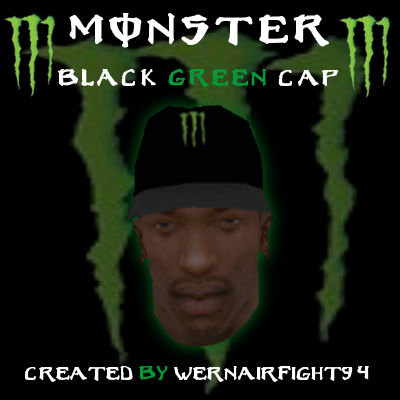 Monster Energy Black Green Cap