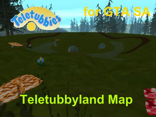 Teletubbies Teletubbyland Map
