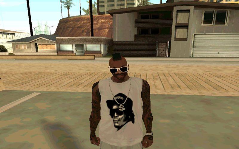 GTA San Andreas Eazy-E Str8 Off Tha Streetz of CPT T-Shirt ...