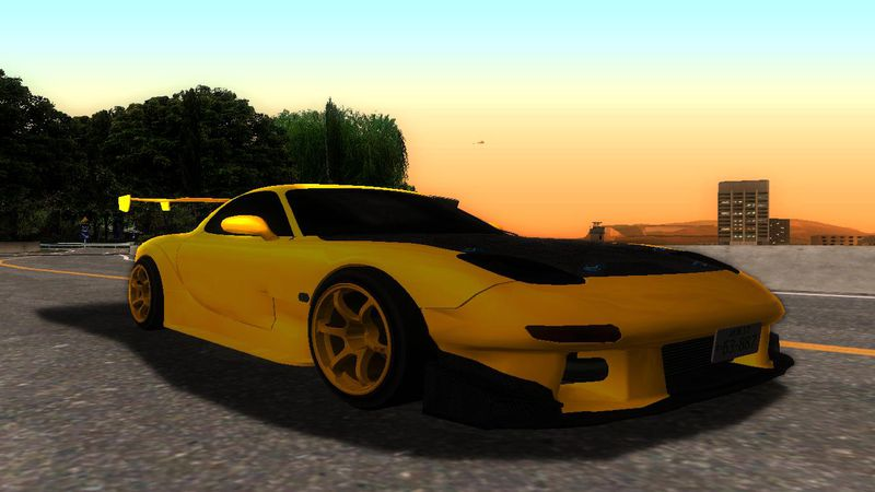 GTA San Andreas Initial D Fifth Stage Mazda RX-7 FD3S Mod ...