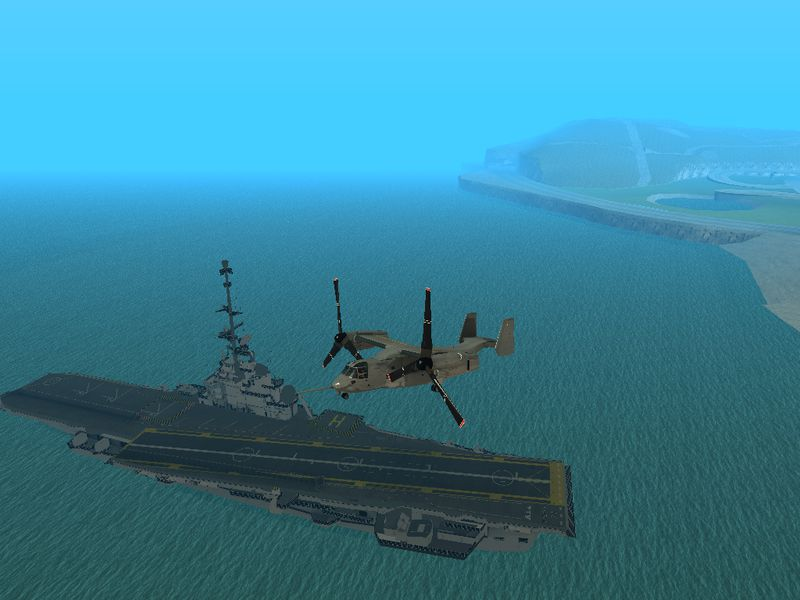 GTA San Andreas Colossus Aircraft Carrier Mod GTAinsidecom - Us aircraft carrier locations map