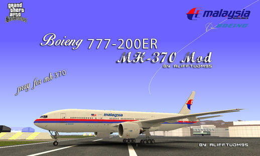 Malaysia Airline Boieng 777-200ER MH370 Edition Mod
