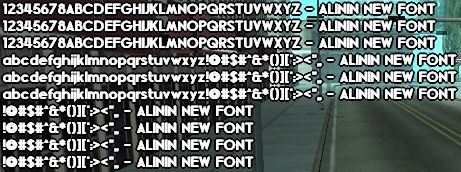 SA-MP Blissful Thinking Font