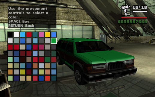 New Vehicle Color (real) 16 bit colors