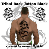Tribal Back Tattoo Black