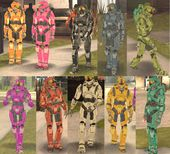 Master Chief 10 Color Costume (Halo)