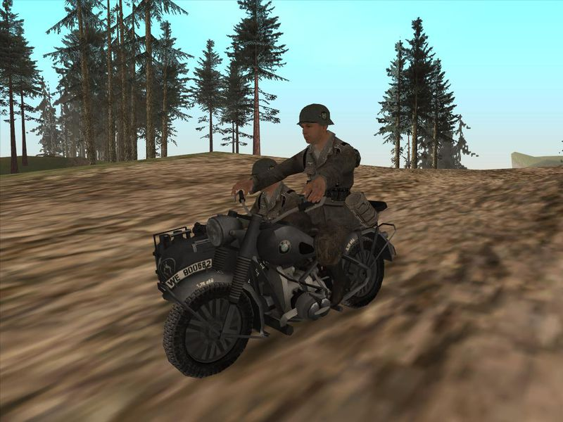 Gta San Andreas Bmw R75 From Forgotten Hope 2 Mod