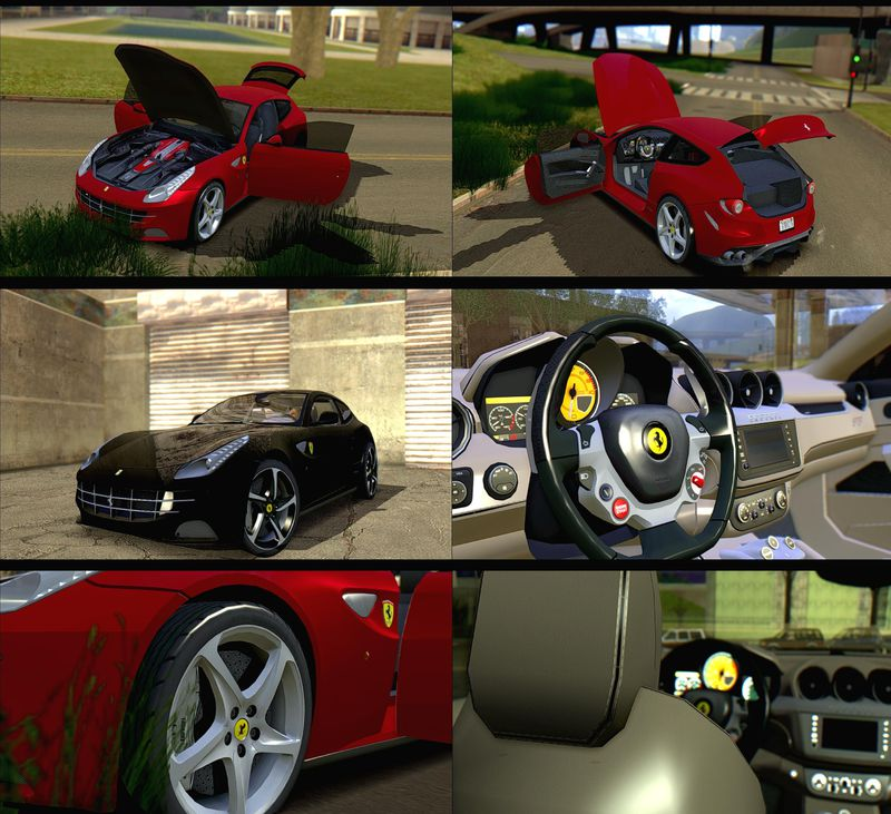 Gta San Andreas Ferrari Ff 2012 Mod Gtainside