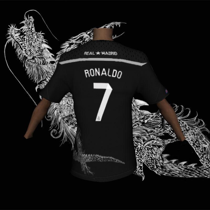 save off de285 e3b9a GTA San Andreas Real Madrid Black Dragon Jersey for TIP Mod ...