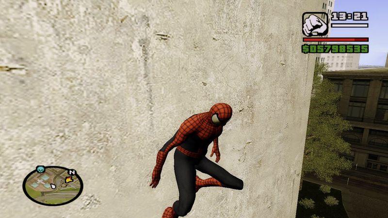 Скачать мод на spider man для gta san andreas