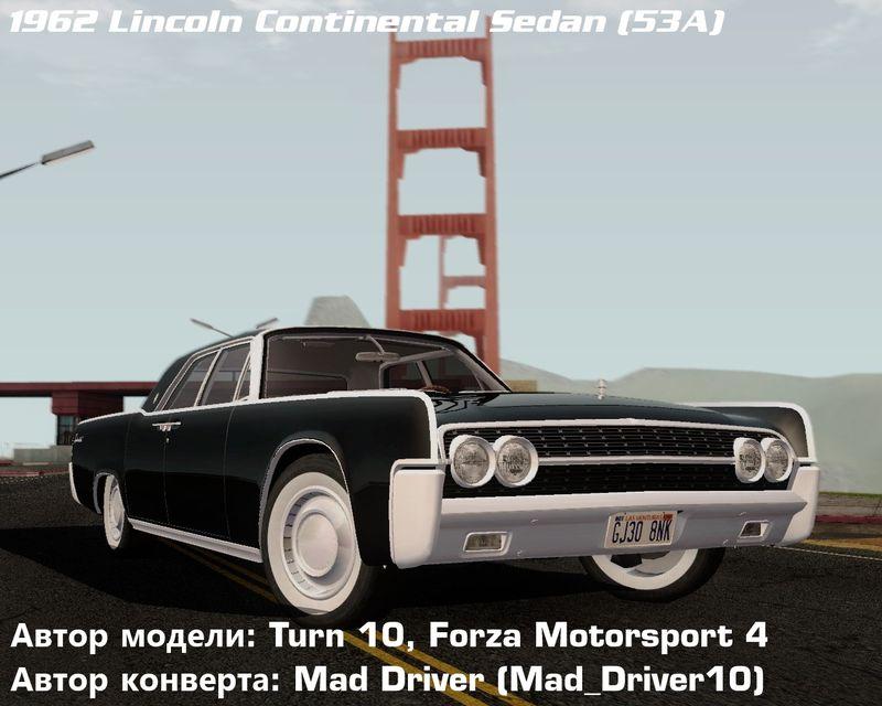 Gta San Andreas Lincoln Continental Sedan 53А 1962 Mod
