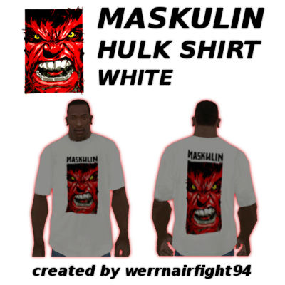 Maskulin Hulk Shirt White