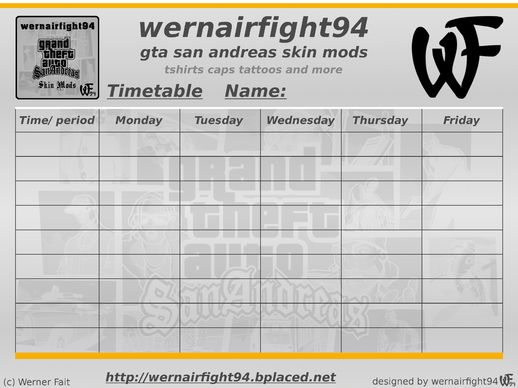 Wf 94 GTA SA Skin Mods Timetable