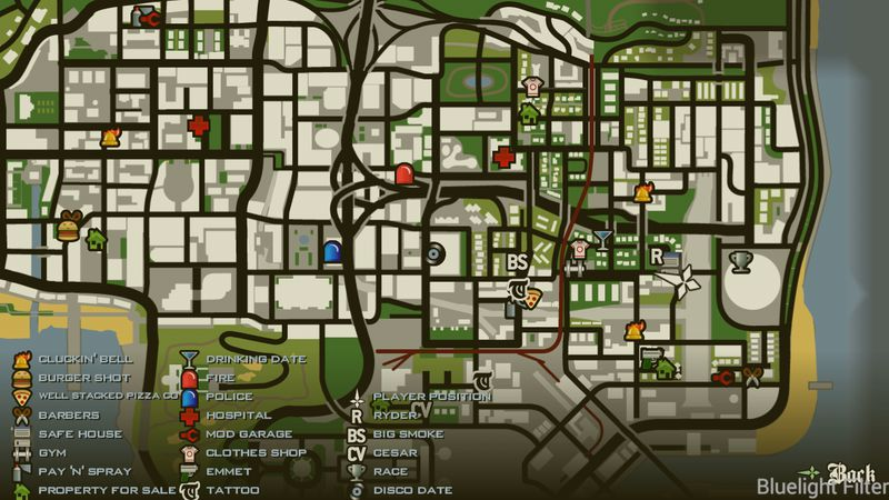 GTA San Andreas More Icons in SA Map for Android Mod