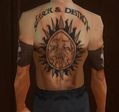 GTA San Andreas Henry Rollins Back Tattoos Mod - GTAinside.com