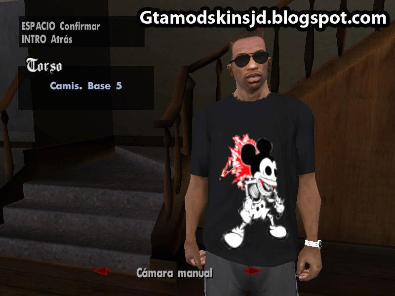 GTA San Andreas Polo de Mickey Mouse Mod - GTAinside com
