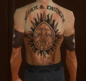 Henry Rollins Back Tattoos