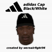 Adidas Cap Black White
