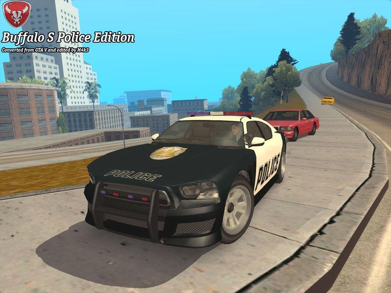 GTA San Andreas GTA V Bravado Buffalo S Police Edition Mod