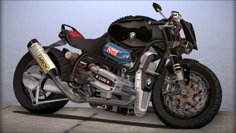 GTA San Andreas BMW R1100R Street Mod