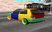 VW Golf MK3 Harlequin Design