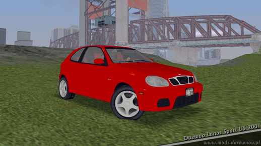 2001 Daewoo Lanos Sport US (GTA 3 only)