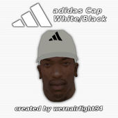 Adidas Cap White Black