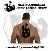 Audio Anabolika Back Tattoo Black