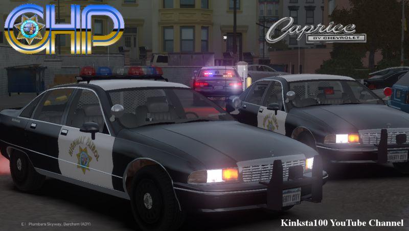 Gta 4 Chp Classic Caprice Police Pack Els V8 Mod