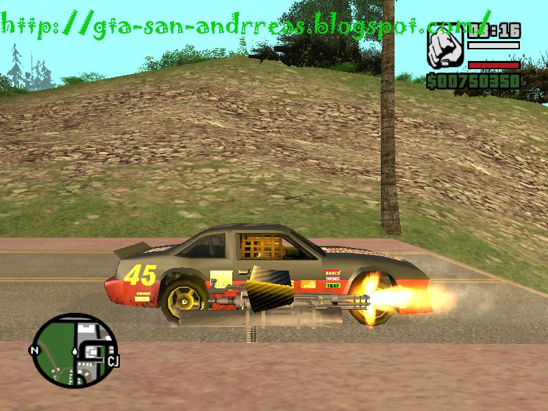 gta san andreas weapons on cars mod. Black Bedroom Furniture Sets. Home Design Ideas
