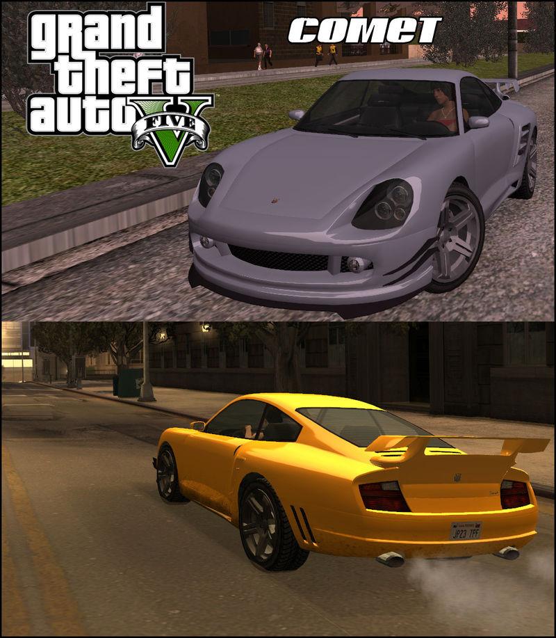 GTA San Andreas GTA V Pfister Comet Mod