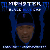 Monster Energy Black Blue Cap