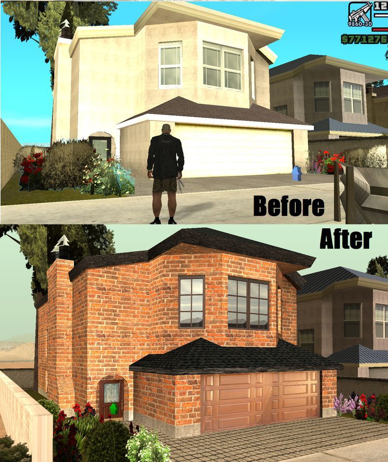 New Brick Homes: GTA San Andreas CJ's New Brick House Mod