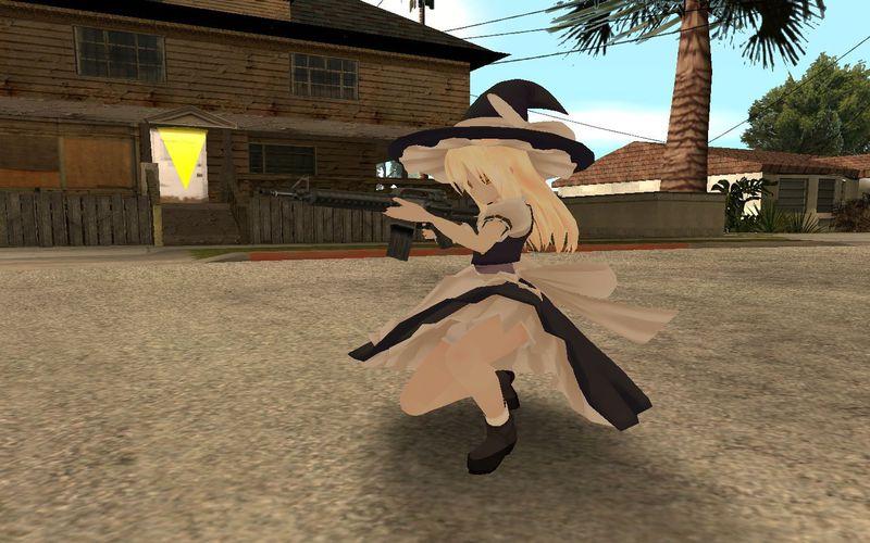 GTA San Andreas Marisa Kirisame Skin (mmd) Mod - GTAinside com
