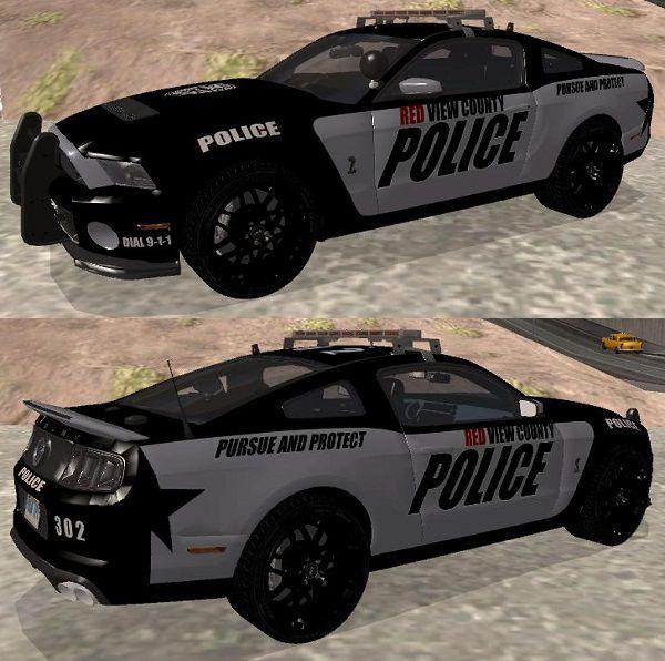 GTA San Andreas NFS Rivals Shelby GT500 Police Mod