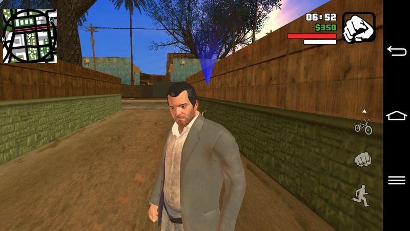 GTA San Andreas GTA V Michael Skin for Android Mod
