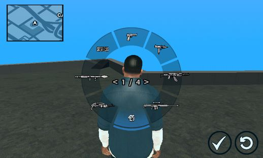 GTA V Weapon Scrolling for Android