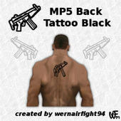 MP5 Back Tattoo Black