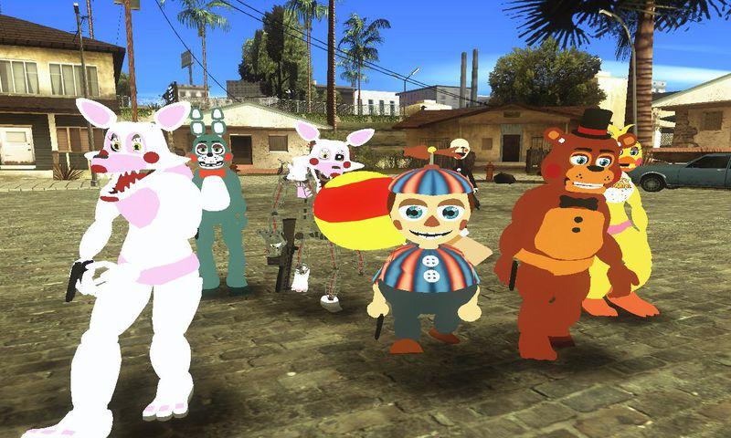 Gta San Andreas Five Nights At Freddy S 2 Skin Pack Mod Gtainside Com