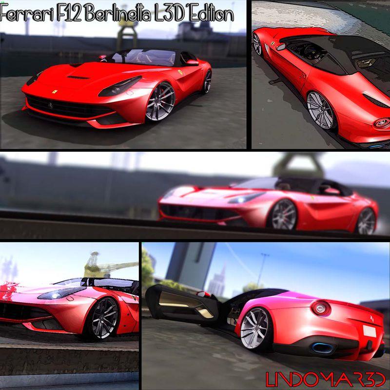 GTA San Andreas Ferrari F12 Berlinetta L3D'Edition Mod