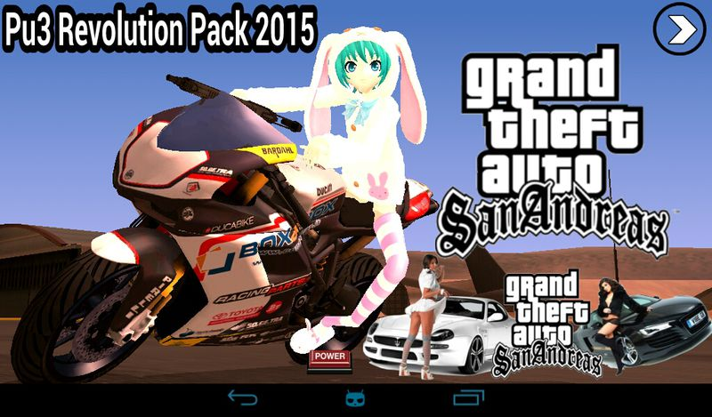 GTA San Andreas Pu3 Revolution Pack 2015 For Android (UPDATED PLUS