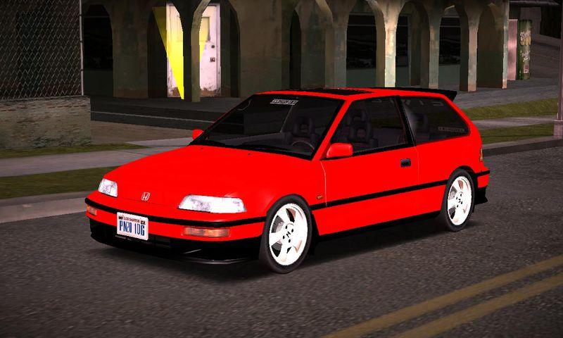 Gta San Andreas Honda Civic Ef Hatchback Mod Gtainside Com