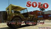 1942 WWII Ford Gpw Willys Jeep Jma 490
