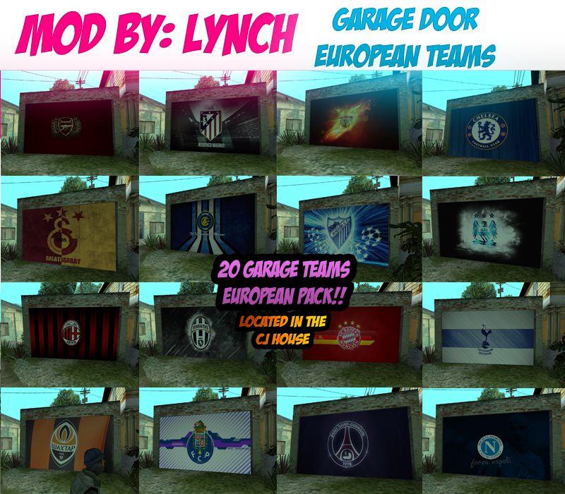 Gta 5 Garage: GTA San Andreas European Teams Garage PACK Mod