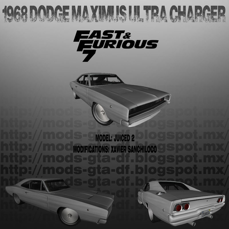GTA San Andreas 1968 Dodge Maximus ULTRA CHARGER FF7 Mod
