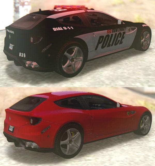 GTA San Andreas NFS Rivals Ferrari FF Cop & Racer Mod