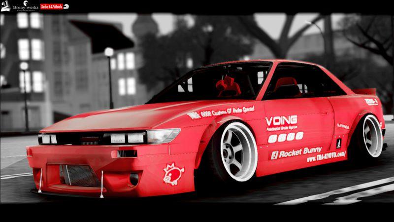 GTA San Andreas Nissan Silvia S13 Rocket Bunny Mod - GTAinside com