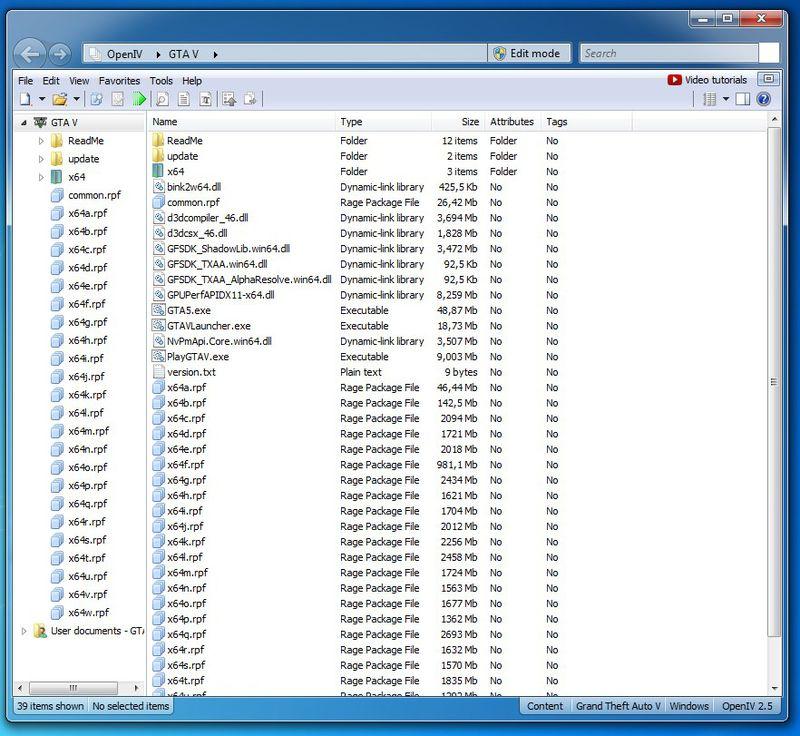 GTA 5 OpenIV For Grand Theft Auto V PC Mod
