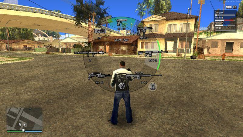 GTA San Andreas V HUD New Weapon Wheel Colors v2 Mod - GTAinside com
