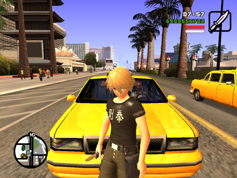 GTA San Andreas HD Remastered HUD For GTA SA (Xbox 360) Mod